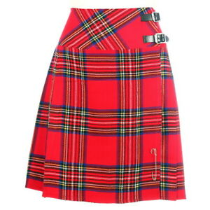 """Nouveau Femme Écossais Royal Stewart 20"""" Longueur Genou Gamme De Tartans Taille 6-28-afficher Le Titre D'origine"""