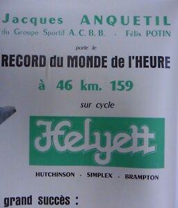 affiche-cycliste-ANQUETIL-HELYETT-velo-course-ancien-bici-epoca-collection