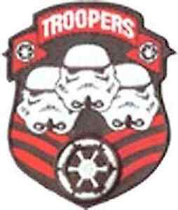 """Vintage Star Wars Troopers Logo 3.5"""" Patch- Mailed from USA (SWPA-CD-45)"""