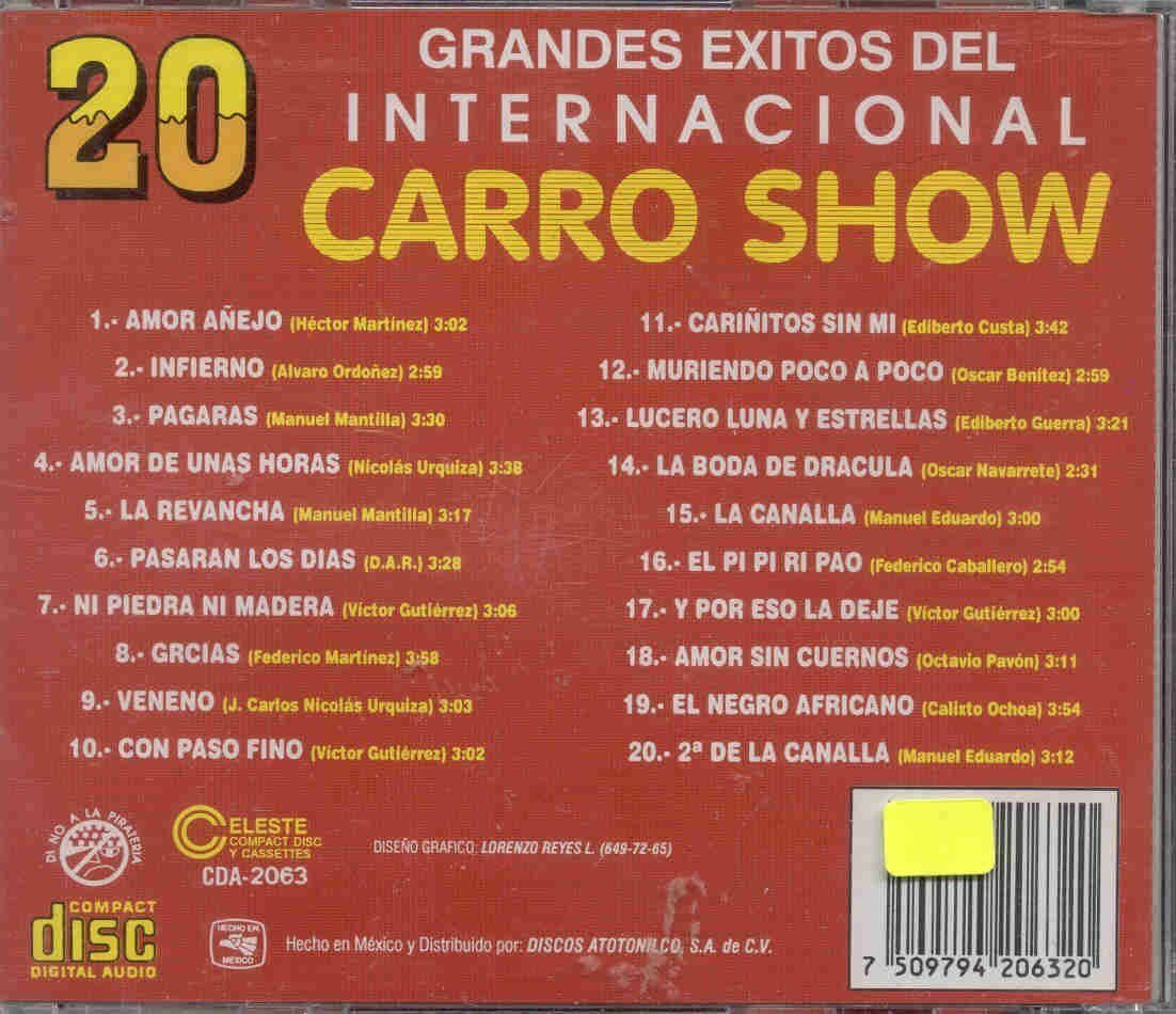 Internacional Carro Show 20 Exitos Cd Nuevo For Sale Online Ebay