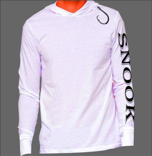 Microfiber Long Sleeve Hoodie UPF 50 sun protection Snook with Hook Fishing