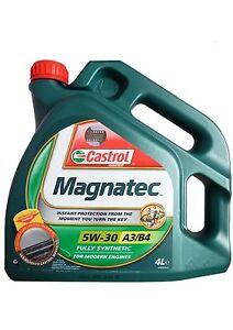 castrol magnatec 5w30  Castrol Magnatec 5w30 A3/B4 Fully Synthetic Engine Oil 4L - (4 Litre ...