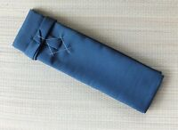 Japanese Sword Shirasaya Stowage Bag Cotton Lined Katana Size Solid Blue Color