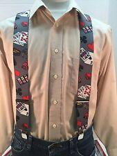 "New, Men's, Casino, XL, 2"", Adj. Suspenders, Made in the USA"