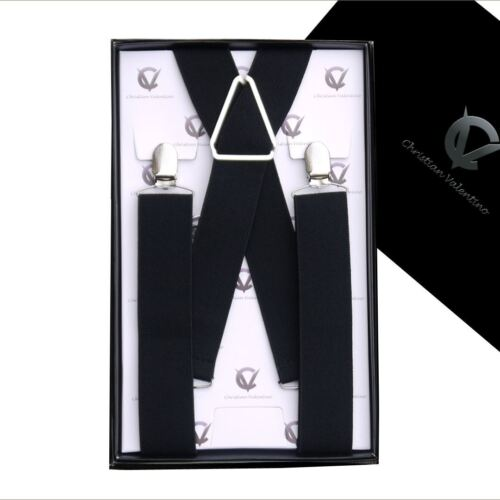 Men/'s Black X3.5cm Extra Large Braces Suspenders Mens
