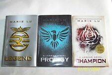 Legend Trilogy, Marie Lu, SIGNED BY THE AUTHOR, 1st editions, 1st printings,2011