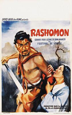 Akira Kurosawa/'s Rashômon 1950 Japanese movie poster 9