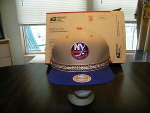 New-York-Islanders-Mitchell-and-Ness-SNAP-BACK-Cap-Hat-NWT