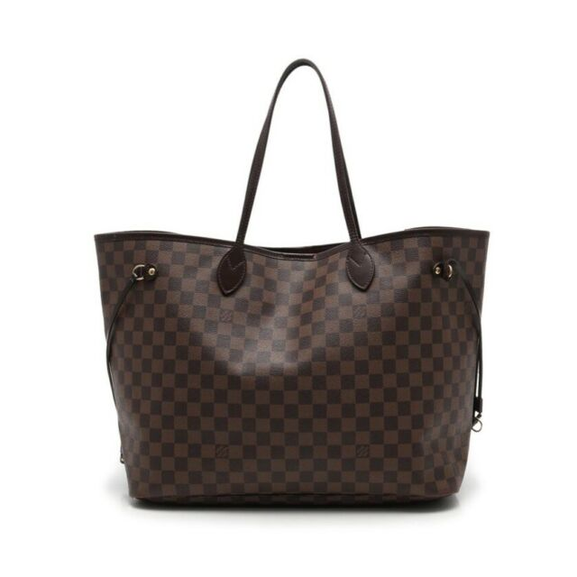LOUIS VUITTON N51106 Tote Bag Neverfull GM Former Damier Ebene Canvas Used