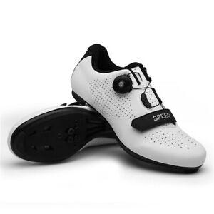 Self Locking Cycling Shoes Mens SPD-SL Peloton Cleats Road Bike Sneakers Indoor