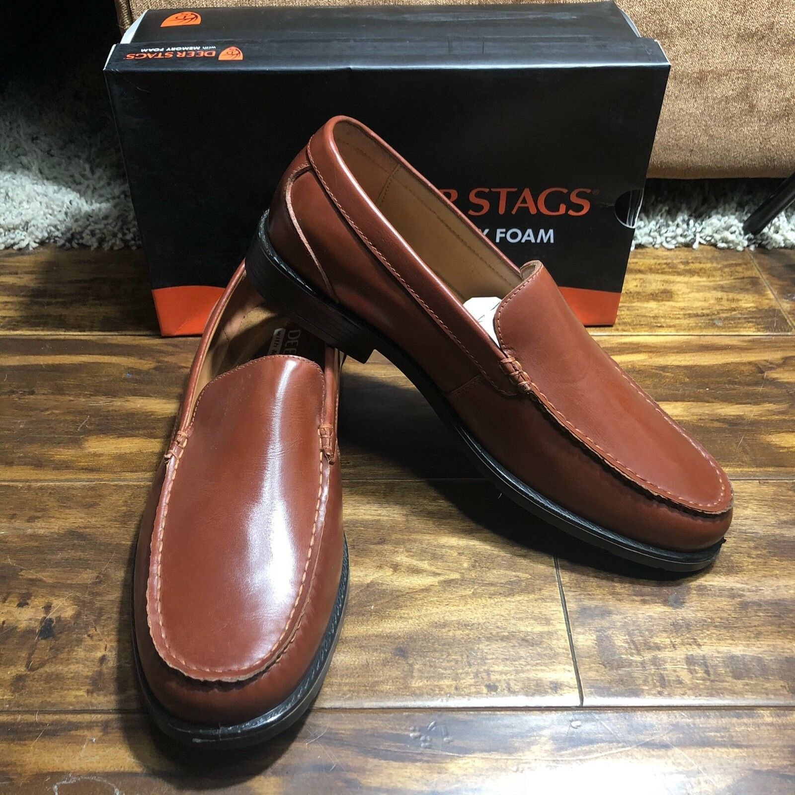 Deer Stags Mentor Dark Maple Loafers Men's Size 11.5 M New