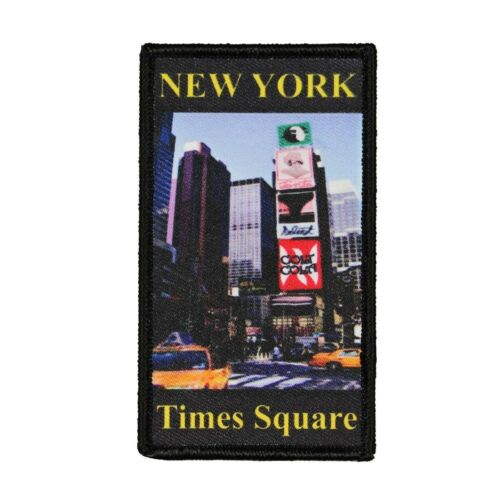 New York Times Square Patch Travel Manhattan Dye Sublimation Iron On Applique