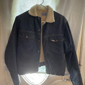 Vintage-Roebucks-Sears-Sanforized-Fleece-Lined-Denim-Jacket-Size-38-R