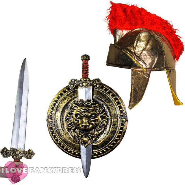 "29/"" GLADIATOR SWORD 20/"" SHIELD TOY SET MEDIEVAL FANCY DRESS COSTUME ACCESSORY"