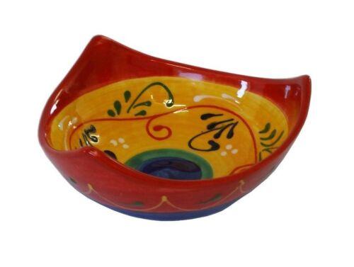 Tri Point Tapas Dish Bowl 12 x 5 cm Traditional Spanish Handmade Ceramic Pottery