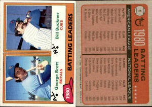 1981 Topps Baseball Cards Complete Your Set U-Pick #'s 1-200 EX-M+ Free Shipping