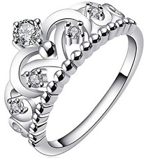 0.54tw Sterling Silver Bypass Wedding Ring Guard Enhncer