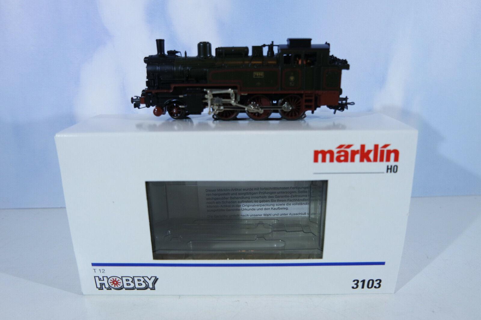 Märklin 3103 locomotiva digitale con originali Märklin decoder, staccato, OVP