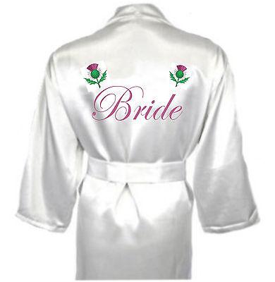 Miele Personalizzata Scozzese Cardo Robe / Vestaglia Regalo Per Sposa Nozze Celtico-mostra Il Titolo Originale Styling Aggiornato