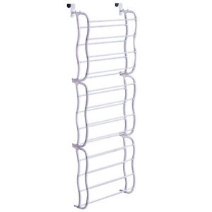 Image Is Loading New White 36 Pair Over Door Hanging Shelf