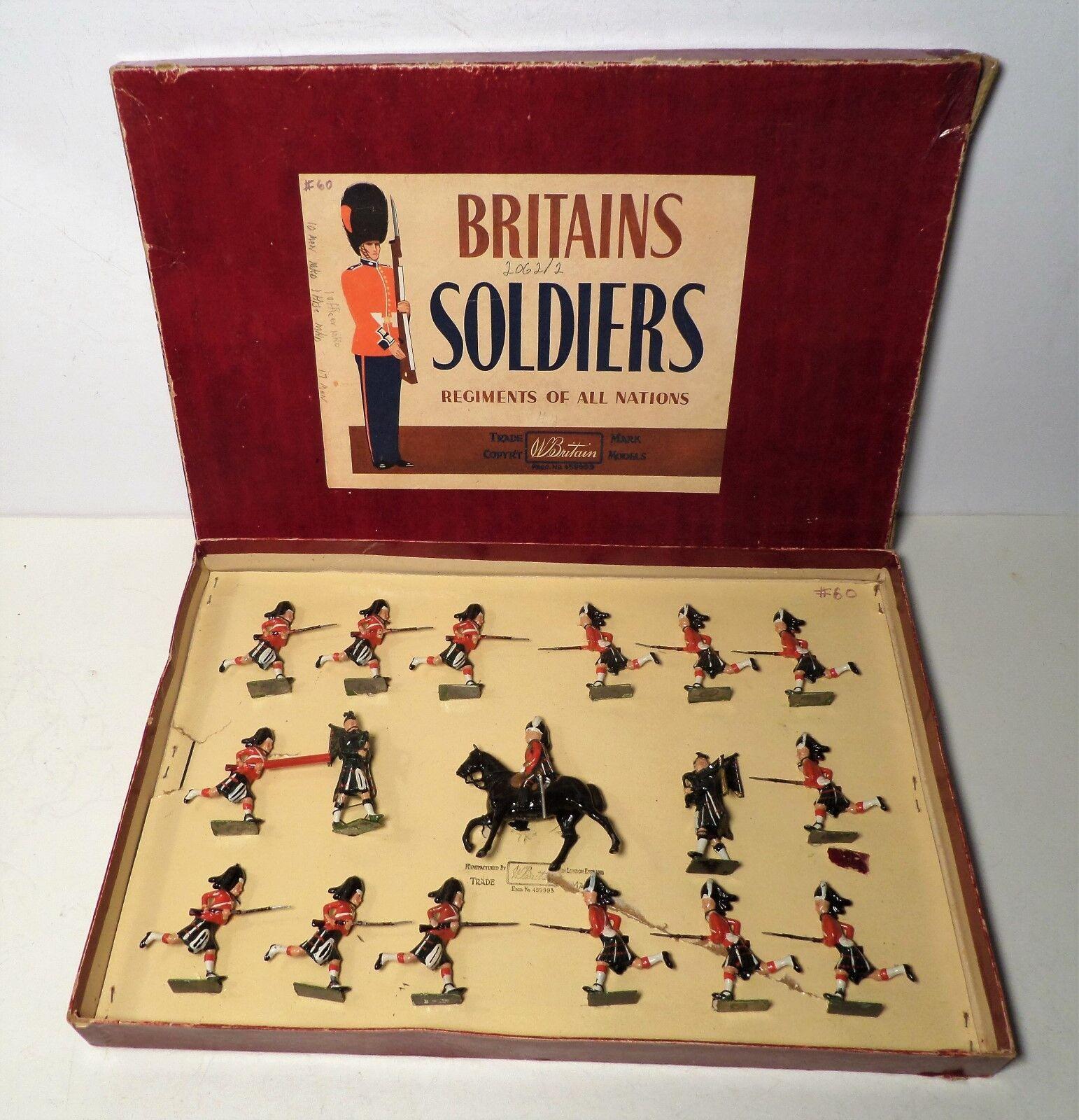 W Britain Set 2062 Seaforth Highlanders Charging w  Box