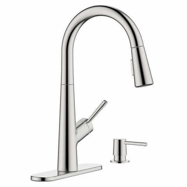 New Hansgrohe Lacuna Pull Down Kitchen Faucet In Steel Optik Finish 04749800