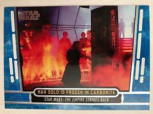 Star Wars 40th Anniversary Blue Base Card #33 Han Solo is Frozen in Carbonite Verzamelingen