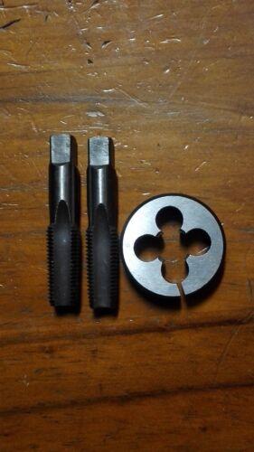 """NPT 1//4/""""x18 RH 2x tungsten steel Hand tap starter /& finishing+split die 1 1//2/"""""""