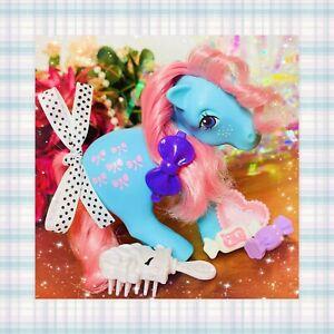 ❤️My Little Pony MLP G1 Vtg 1983 Original Earth Ponies Bow Tie Freckled Cutie❤️