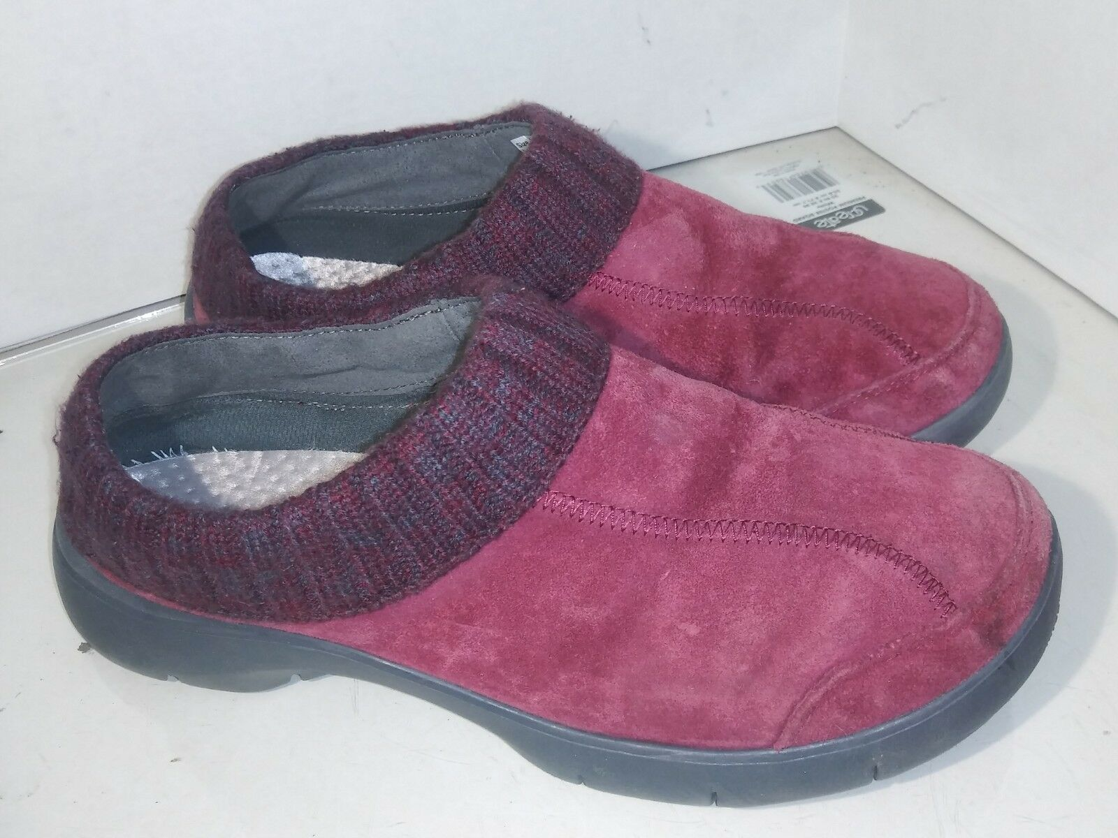 Dansko Eartha 4404881000 Wine Suede Clogs Slip On Womens Size 41