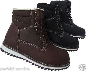 bead2ee4475592 Das Bild wird geladen Jungen-Schuhe-Kinder-Winter-Stiefel-Boots-warm -gefuettert-