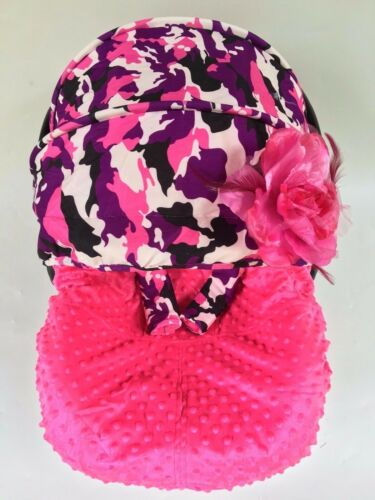 baby car seat /& canopy cover fit Most infant car seat camouflage military-pink