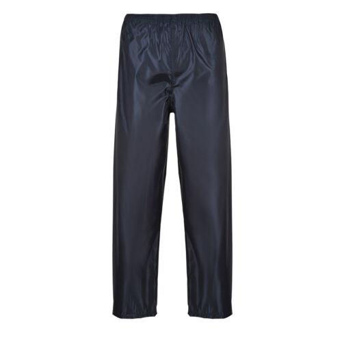 Portwest S441 Classic Adult Waterproof Work Rain Pants with Snap Adjustable Hems
