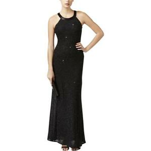 5279227dc2d Image is loading Adrianna-Papell-Black-Chiffon-Beaded-Illusion-Mesh-Back-