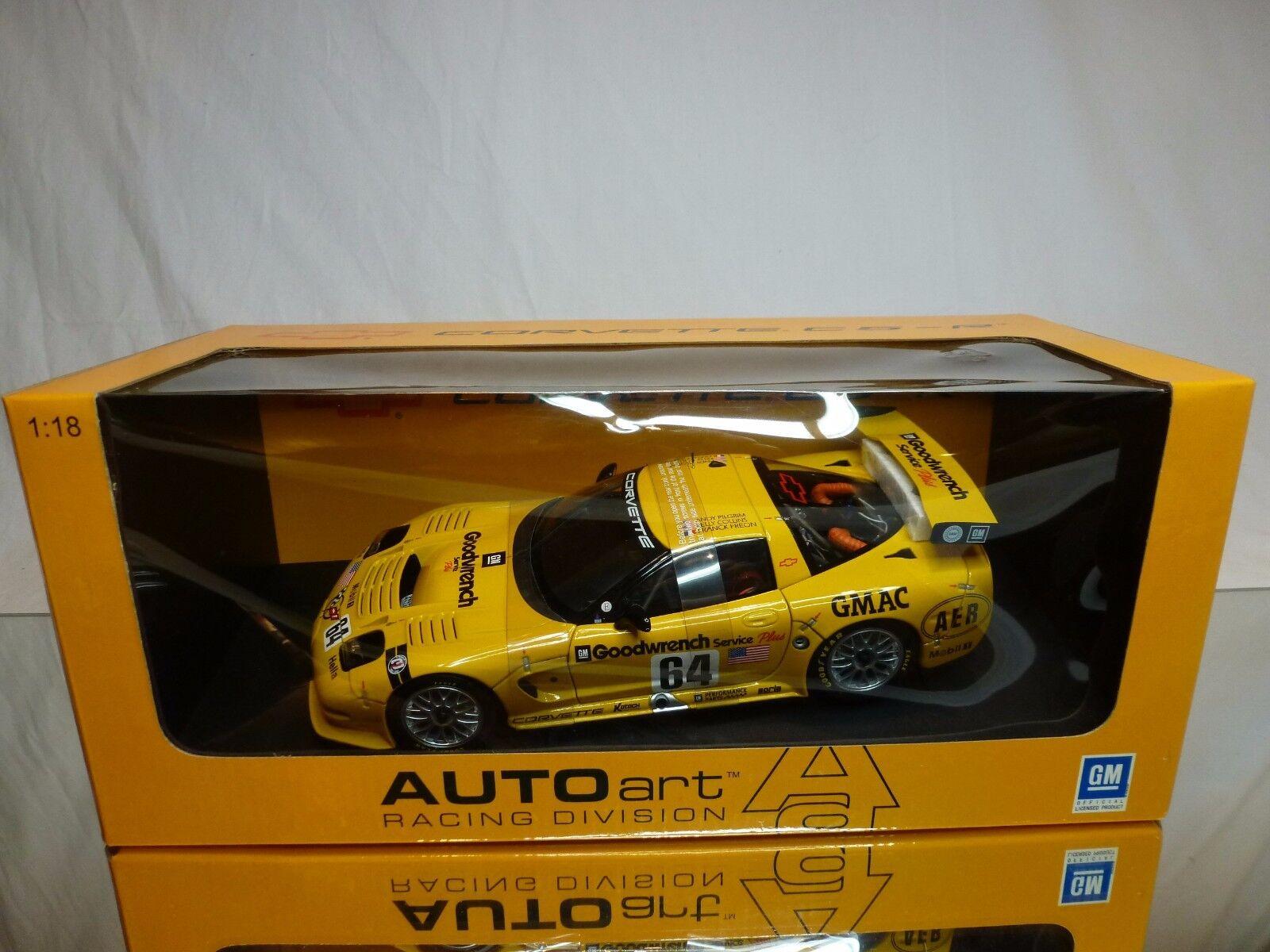AUTOART 80107 CORVETTE C5-R LE MANS 2001 - 1 18 - BOXED + TRANSPORT STRAPS CAR