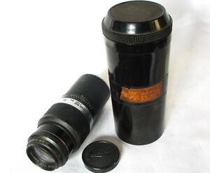 Leica-Leitz-Hektor-13-5cm-135mm-1-4-5-Tele-Lens-39mm-LTM-In-Leica-Bakelite-Case