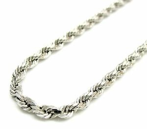 Solid-925-Sterling-Silver-Italian-Rope-Chain-Mens-Necklace-4mm-Diamond-Cut