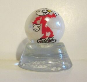 """FLYING /""""A/"""" GASOLINE LOGO ON WHITE PEARL MARBLE"""