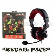 BOX DELUXE HEADSET HEADPHONE WITH MICROPHONE FOR XBOX ONE & S PS4 PC MAC TABLETS