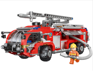 Xingbao-Building-Blocks-Toys-Gifts-Airport-Fire-Truck-Toys-Assembling-Car-Model