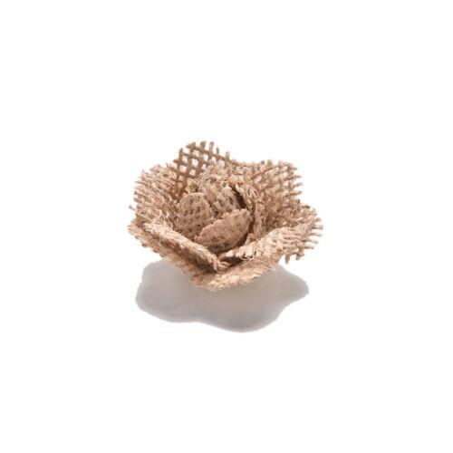 6X Handmade Jute Hessian Burlap Flowers Rose Shabby Chic Wedding Decor  Rustic