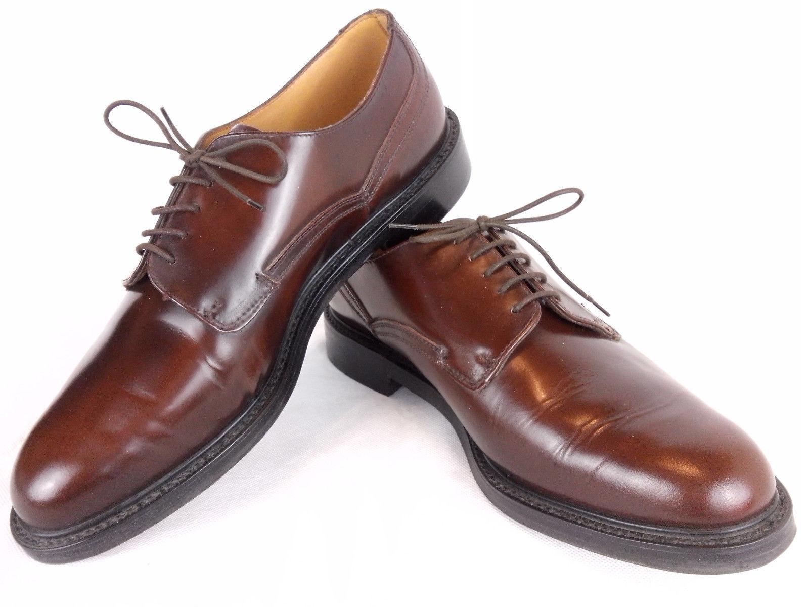 Gleneagles Inglaterra welted Derby de cuero marrón marrón marrón oscuro polaco UK 9.5 G Ajuste Ancho 9f0854
