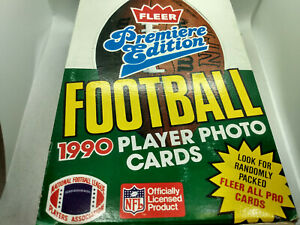 1990 Fleer Premiere NFL American Football Cards - Full Box with x36 Sealed Packs