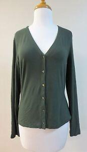 Perla lavet Italien Sz Euc Cardigan 46 Sweater i Green La Jersey Zda5xZqw