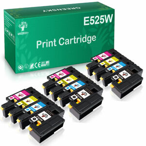 4-12PK Color Toner Cartridge Set for Dell E525w E525 Printer High Yield Toner