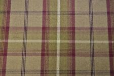 Porter & Stone Balmoral Tartan Wool Effect  Upholstery Fabric - Heather