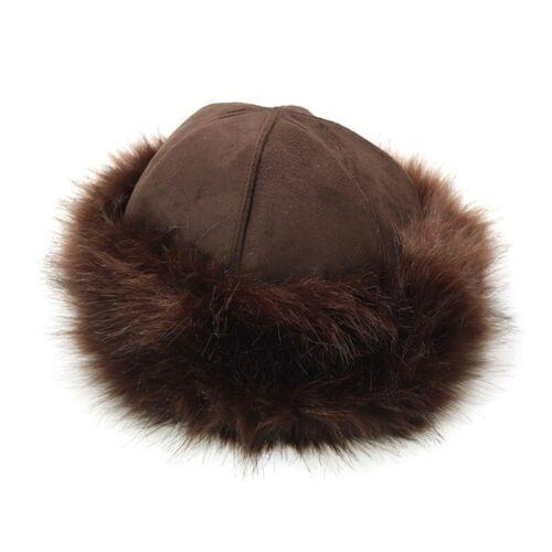 Womens Real Fox Fur Hat Russian Winter Warmer Ear Cap Ushanka Cossack Ski Black.