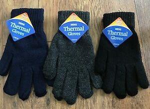 Men Hoop /& Loop ROCKJOCK Fleece Gloves Black Ski Fishing Motorbike Thermal