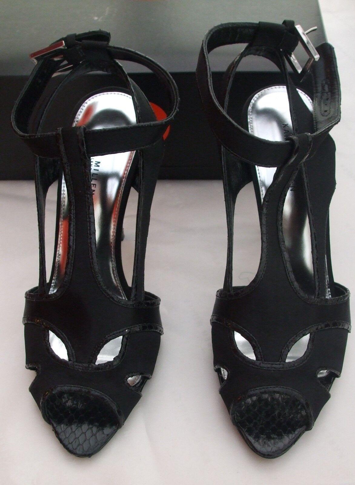 KAREN MILLEN BEAUTIFUL schwarz OPEN TOE schuhe GrößeS 4, 5 & 6