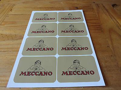 Meccano Small Parts Boxes/Tins Labels - Repro's. Pre & Post War inc. Elektron